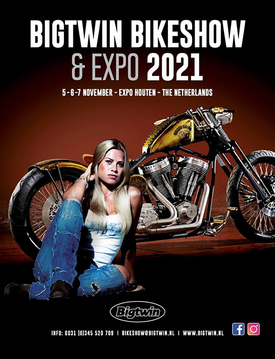 euro bikers advertisement logo bigtwin bike show and expo