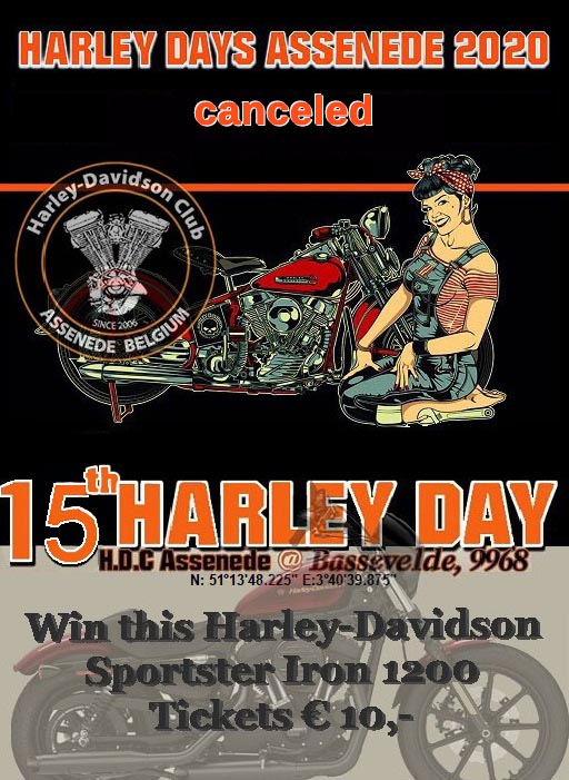 euro bikers advertisement logo 14th harley day assenende