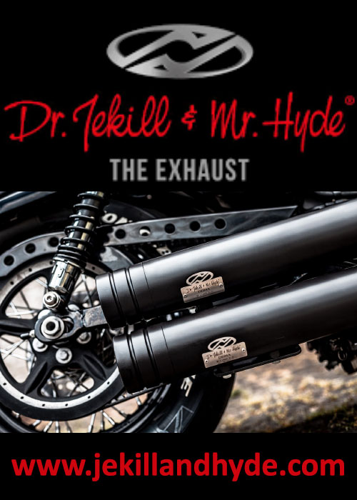 euro bikers advertisement logo dr jekill & mr hyde